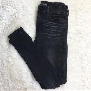 Express black mid rise legging